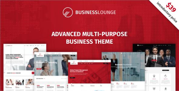 قالب شرکتی وردپرس بازرگان | businesslounge