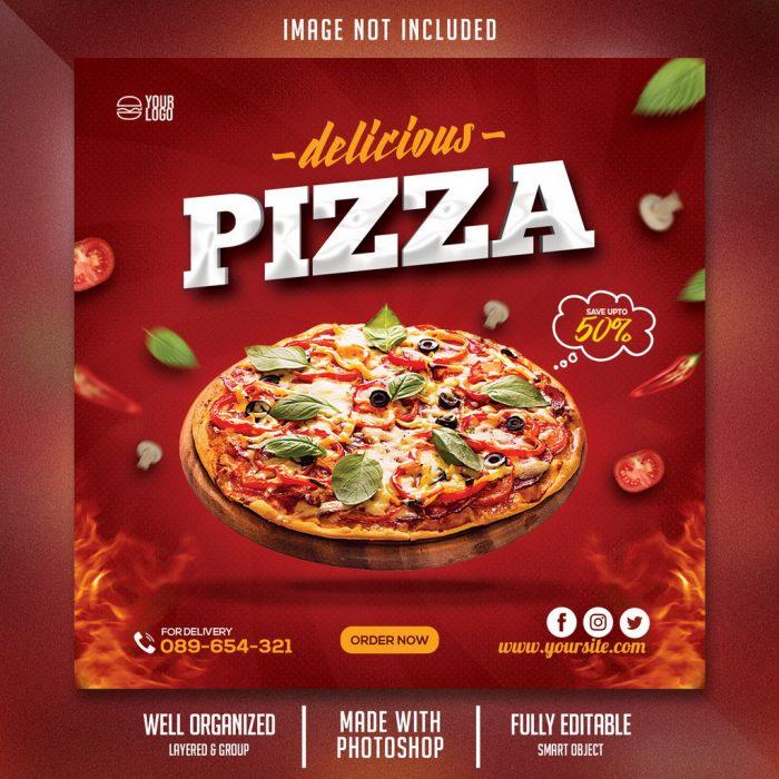 بنر لایه باز پیتزا